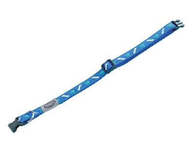 Halsbånd hvalp blå