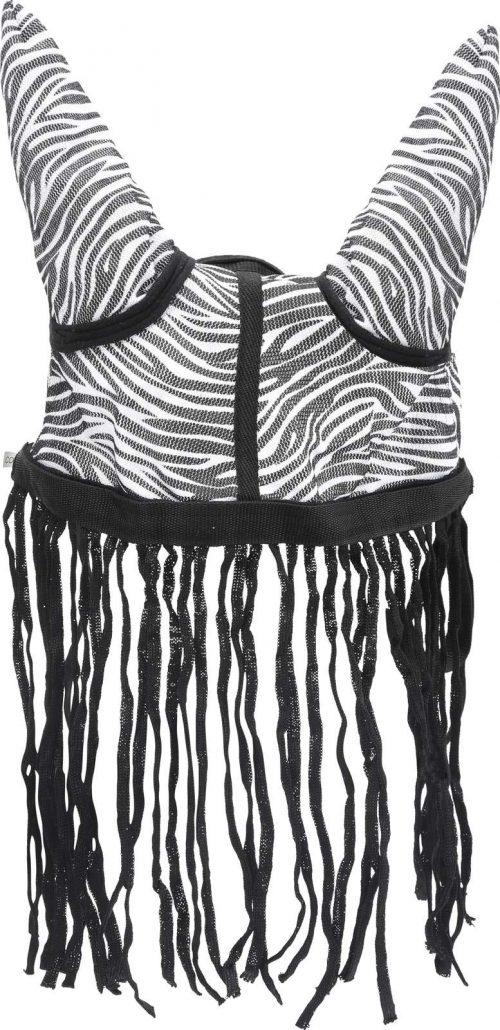 Fluemaske med ører Zebra